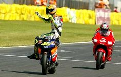 Valentino Rossi and Max Biaggi