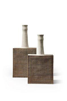 BRUNO GAMBONE (NÉ EN 1936) Ensemble de deux céramiques