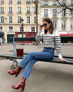 Parisian Summer, Parisian Chic Style, French Chic Style, Paris Outfits, Fashion Outfits, Paris Spring Outfit, French Street Fashion, French Street Styles, French Chic Fashion