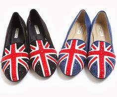 [STORETS] JEWELED BRITISH ACCENT FLAT SHOES