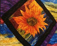 gorgeous sunflower quilt, such vivid colors!