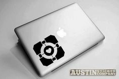 Companion Cube from Portal Laptop Decal by AustinStickerCompany, $4.49 Wall Decals, Vinyl Decals, Companion Cube, The Marauders, My Favorite Image, Mass Effect, Laptop Decal, Paper Cutting, Just In Case