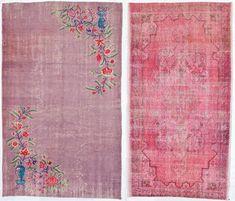 Overdyed rugs (ABC home via Decor8)