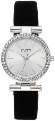 Studio Time Women's Crystal Leather Watch #watches #womens