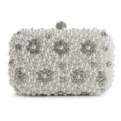 Lulu Townsend Pearl Covered Box Clutch and other apparel, accessories and trends. Browse and shop 1 related looks.