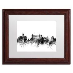 Michael Tompsett 'Rome Italy Skyline B&w' Matted Framed Art