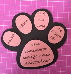 Convite de aniversário tema cachorrinho Source by sergiothum Did you find apk for android? Puppy Birthday Parties, Puppy Party, Cat Birthday, Animal Birthday, Birthday Party Themes, Birthday Invitations, Paw Patrol Party, Paw Patrol Birthday, Panda Party