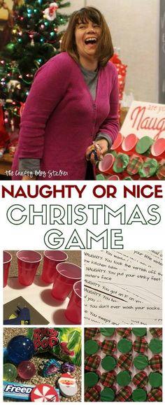 Hilarious DIY Naughty or Nice Family Christmas Game
