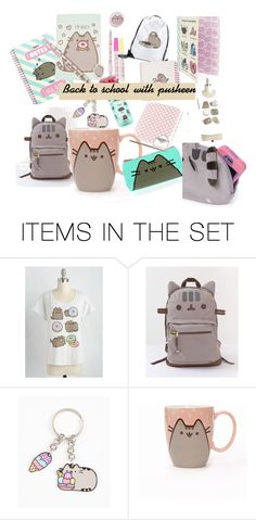 """""""Back to school with pusheen .\\ pusheen merchandise for back to school"""" by therealfashionista123 on Polyvore featuring art"""