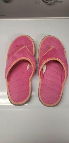 374182faf0b9 Dearfoams Women s Memory Foam Flip-Flop Terry Thong Sandals (Medium 7-8