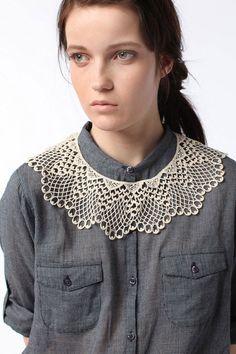 lace crochet collar