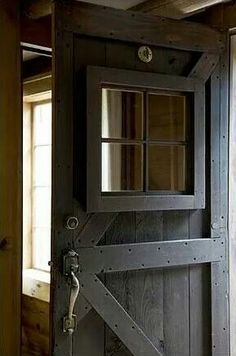 You can't go wrong with a barn door