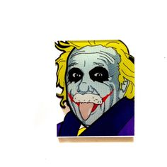 Hey, I found this really awesome Etsy listing at https://www.etsy.com/listing/236161797/albert-einstein-the-joker-the-dark