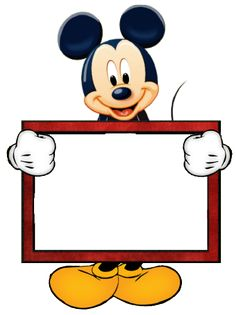 Mickey Blank Sign