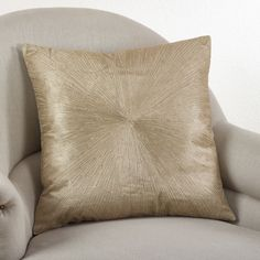 Dress up any room with this shimmering starburst design pillow. This 100-percent cotton contemporary pillow adds vibrancy to any room and is…