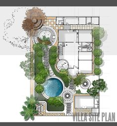 siteplan and landscape design for private villa in Qatar