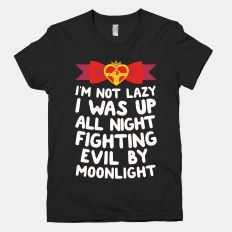 I Was Up Fighting Evil By... | T-Shirts, Tank Tops, Sweatshirts and Hoodies | HUMAN