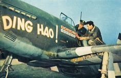 Lieutenant Colonel James H. Howard adds another victory mark to his P-51B-5-NA Mustang, 43-6315, Ding Hao!
