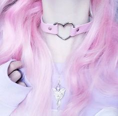 Tips: *Please double check above size and consider your measurements before orderin Harajuku kawaii punk heart choker Grunge Goth, Pastel Grunge, Grunge Hair, Estilo Goth Pastel, Pastel Goth Fashion, Kawaii Fashion, Visual Kei, Heart Choker, Heart Ring