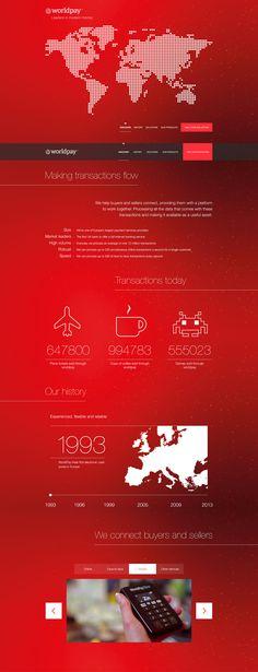 Unique Web Design, Worldpay #WebDesign #Design (http://www.pinterest.com/aldenchong/)