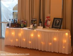 I think we should set up our own table for silent auction. There is never enough room at the other tables, and need to bring some sort of battery powered lights for it.
