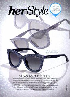 253b705f017c Jimmy Choo s  Flash  Swarovski Crystal Framed Wayfarer Sunglasses were  featured in Her World Malaysia