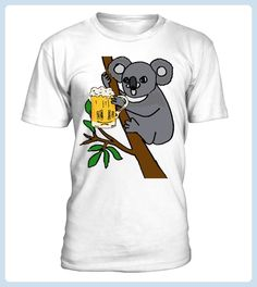 Koala bear drinking beer light Tshirt (*Partner Link)