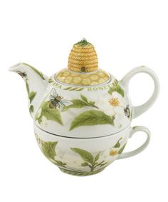 Tea Plant & Honey Bees Tea for One Set #zulily #zulilyfinds