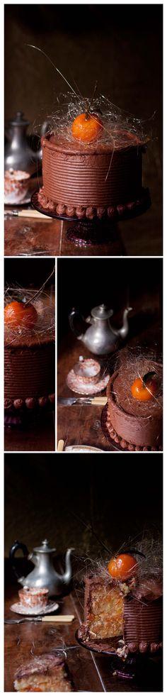 Tarta de mandarinas y chocolate