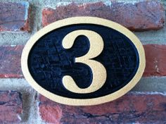 The Carving Company | Full Service Custom Carved Sign Shop | Wood Carved Address Sign / House Number Sign (A3)