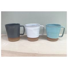 4 Contemporary stoneware mugs 10oz save 10% and shipping costs by RhynoClayworks on Etsy https://www.etsy.com/listing/268244317/4-contemporary-stoneware-mugs-10oz-save