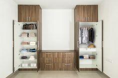 HomeLane: Full Home Interior Design Solutions, Get Instant Quotes. Built In Wardrobe Designs, Bedroom Built In Wardrobe, Wooden Wardrobe, Closet Designs, Master Bedroom, Bedroom Decor, Muji Home, Modular Wardrobes, Bedroom Cupboard Designs