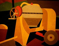 Worcester Art Museum (Massachusetts)  The Cement Mixer by Niles Spencer  (American, 1949 A.D.)