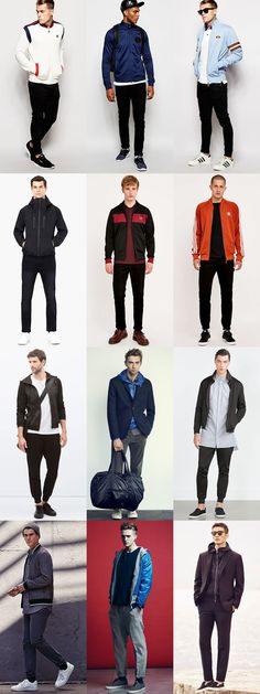 Men's Track Jackets Outfit Inspiration Lookbook