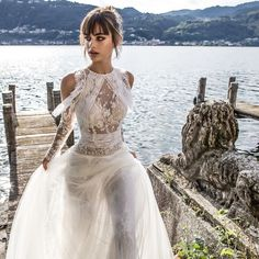 The Pinella Passaro bridal collection marries innovative couture techniques with fine Italian dressmaking tradition. Each dress features a unique combination of fabrics