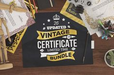 Best Vintage Certificate Bundle @creativework247