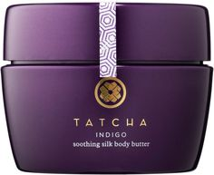 Tatcha Indigo Soothing Silk Body Butter. The stems, leaves, and petals of the indigo plant are steeped in water and fermented to make a concentrated botanical extract that soothes and calms sensitive skin.This creamy body butter contains the hadasei-3 bioactive complexa proprietary antioxidant, antiaging complex of green tea, Okinawa red algae, and Japanese rice bran extracts.