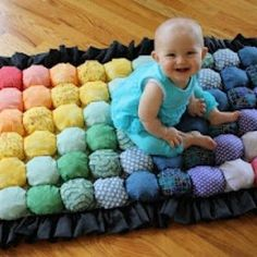 Bubble Quilt Tutorial {Baby Quilts} I would like to try to make this for an adult bed.