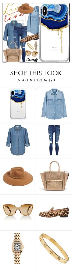 """""""Wild Wild West"""" by casetify ❤ liked on Polyvore featuring H&M, Miss Selfridge, J Brand, Forever 21, Henri Bendel, Prada, Christian Louboutin and Cartier"""