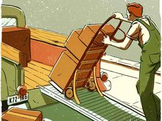 On an incline, a hand truck can roll backward and cause an injury, our February 1938 issue cautioned. Reduce the risk by mounting stout fabric straps on the truck's frame above the wheels. Move forward and the straps flap out of the way. Go backward and the straps tuck under the wheels to arrest motion.   - PopularMechanics.com