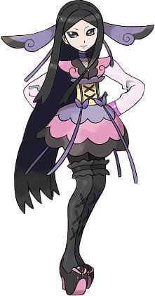 Valerie, the first fairy gym leader.  I want to cosplay her so bad!  She's got such cute style!