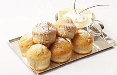 Mini white chocolate muffins