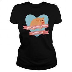 Mini Pig Life T-Shirt - #hoodies for men #fishing t shirts. ORDER HERE =>…