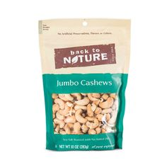 Back to Nature Jumbo Cashews are another favorite snack- they've gotten me through some hungry times when I wanted to reach for something less nutritious.  The brand supports Nature Conservancy & Rainforest Alliance too- bonus points...