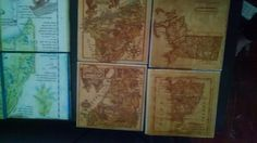 Ancient map coasters!