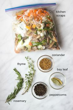 How to Make Vegetable Broth with Kitchen Scraps - Little Broken