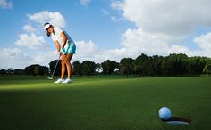 How LPGA Tour star Lexi Thompson became a putting machine. Lexi Thompson, Lpga Tour, Putting Tips, Golf Humor, Funny Golf, Golf Tour, Golf Instruction, Putt Putt, Golf Lessons