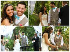 Unity Cross Ceremony. #wedding #turquoisewedding #unityceremony #love
