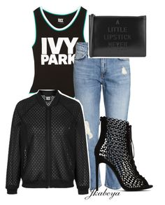 """Ivy Park dressed up"" by craze92 on Polyvore featuring Ivy Park, Lulu Guinness, Zara and Topshop"