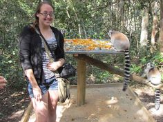 Breanna Sands at Monkeyland in South Africa